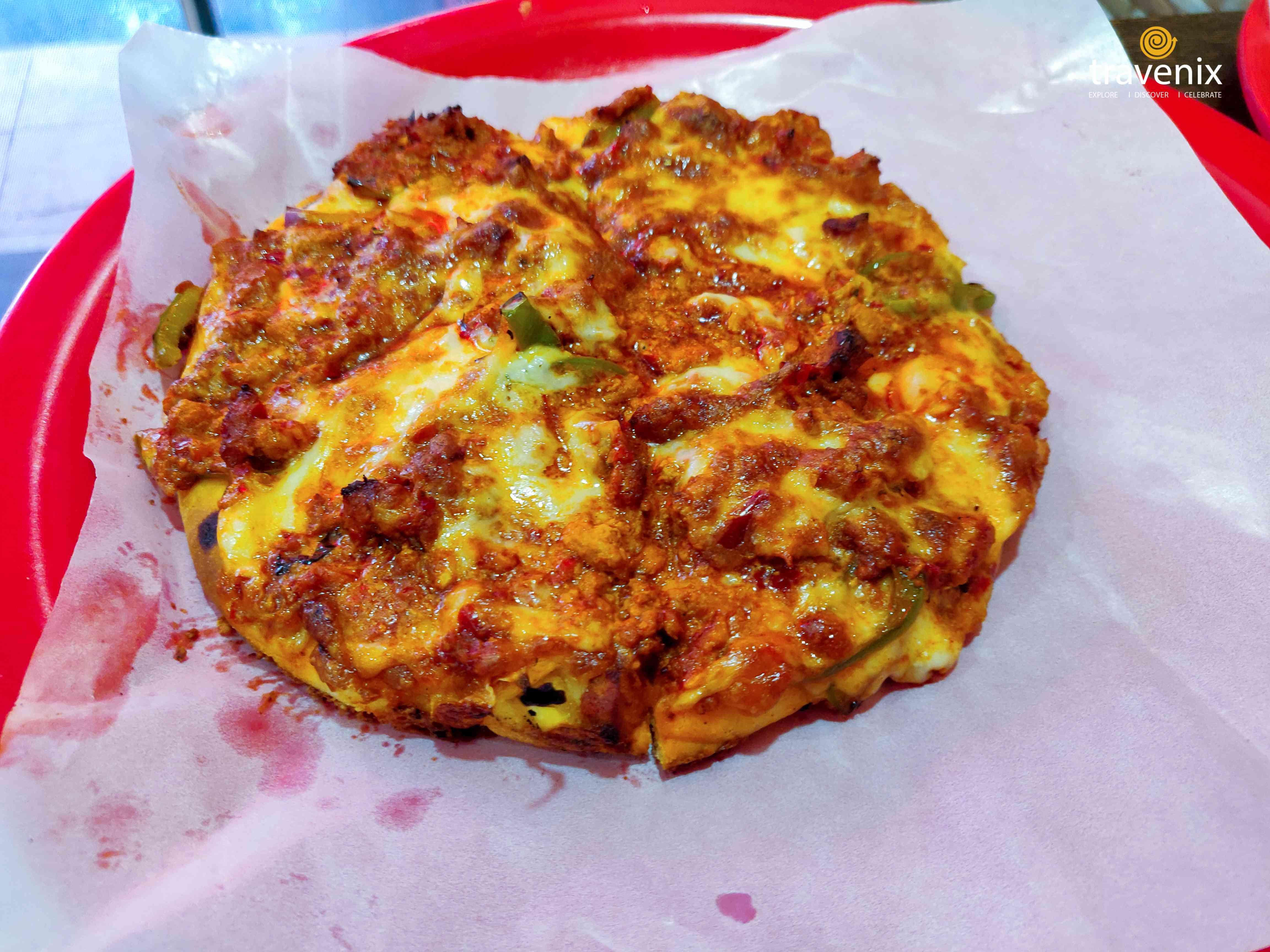 Spicy Keema Pizza