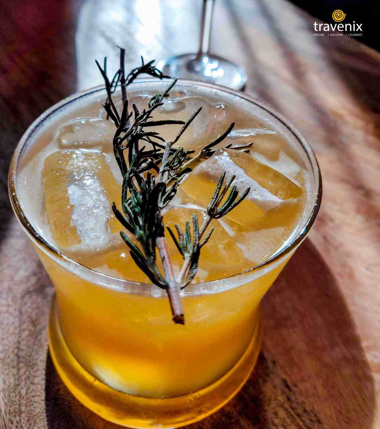 Bourbon Rose Mary drink