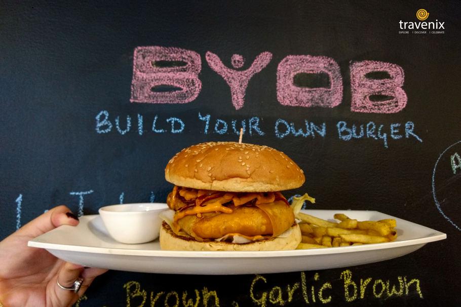 Crazy Mother Clucker Burger, BYOB