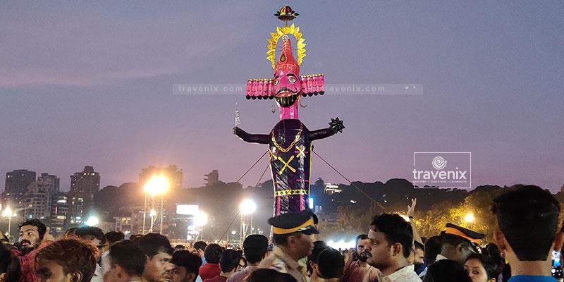 Ravan Effigy Mumbai Dussehra