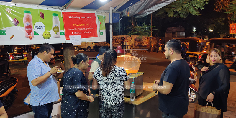 Crowd enjoying Paani Puri at Monsoon - The Chaat Corner