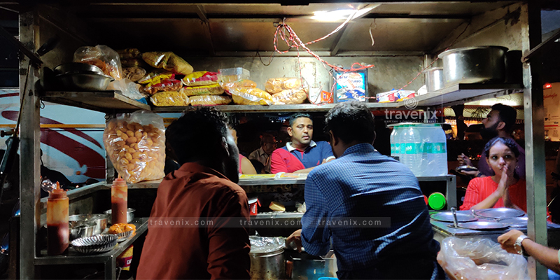 Customers waiting for their order at Shreeji Stall