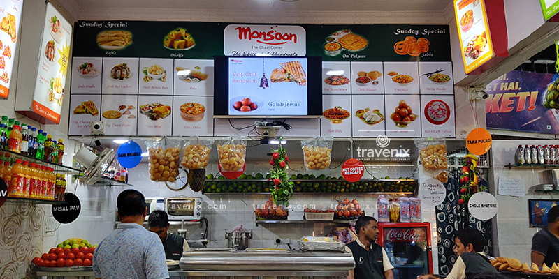 Delicious menu of Monsoon - The Chaat Corner