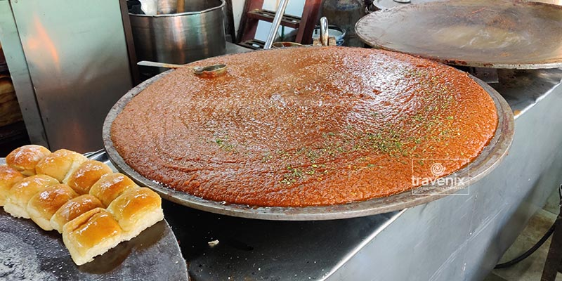 Freshly cooked Pav Bahi at Cannon Pav Bhaji
