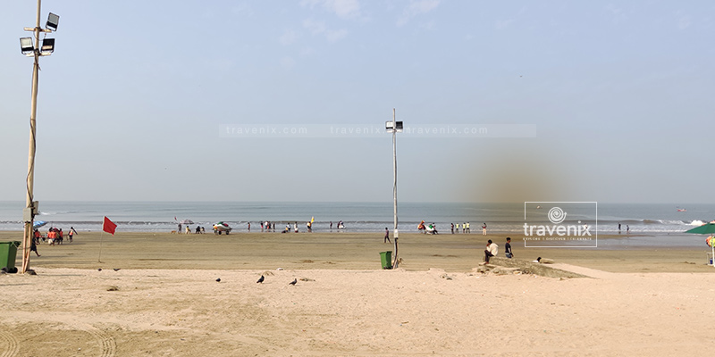 The view of Juhu Beach