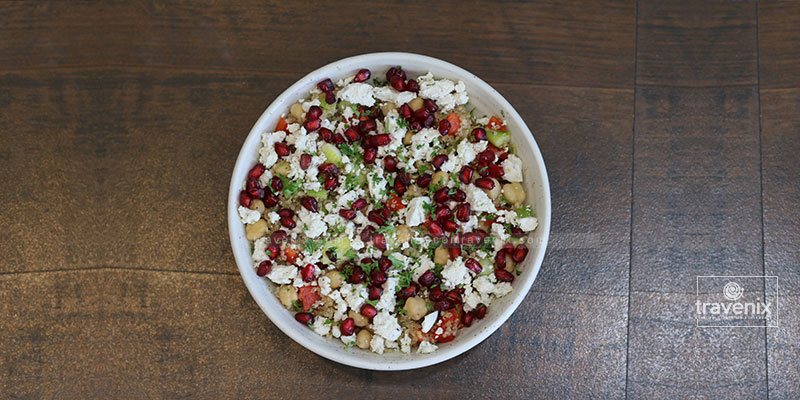 Quinoa, Chickpea and Vegan Feta Salad