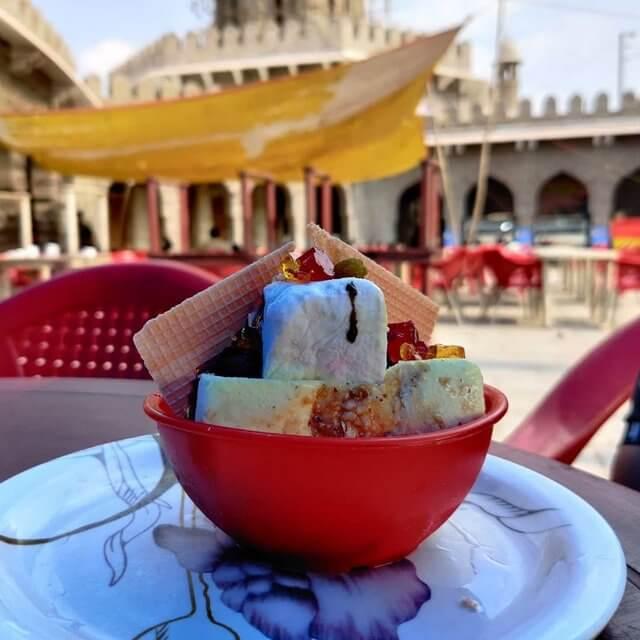 Famous Ice Cream at Mozzamjahi Market - Thunder Ball Ice Cream