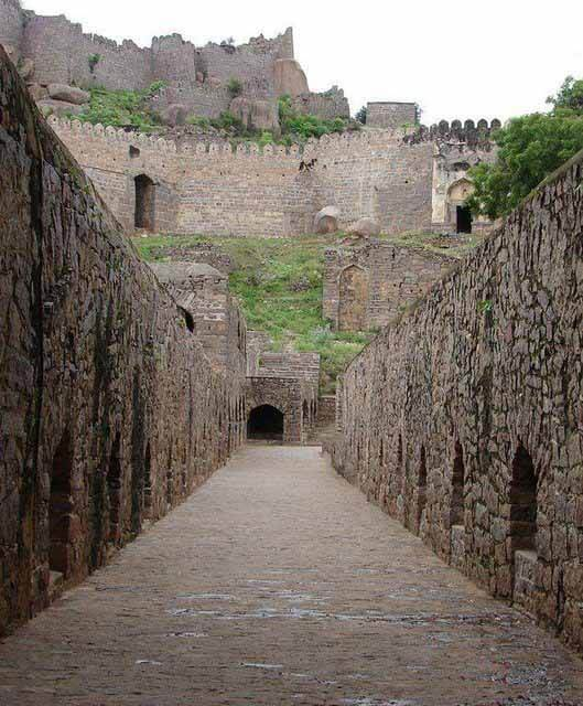 Well planned system at Golconda Fort